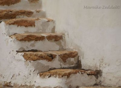 Treppen einer Windmühle
