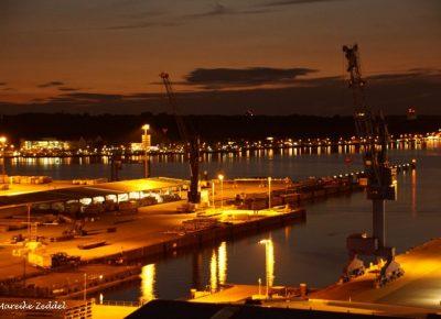 Blick über die Kieler Förde von der Sternwarte am Abend