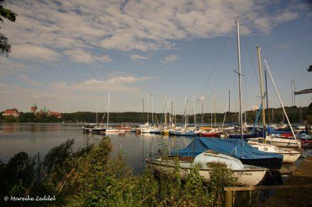Segelboote im Hafen auf dem Ratzeburger Domsee