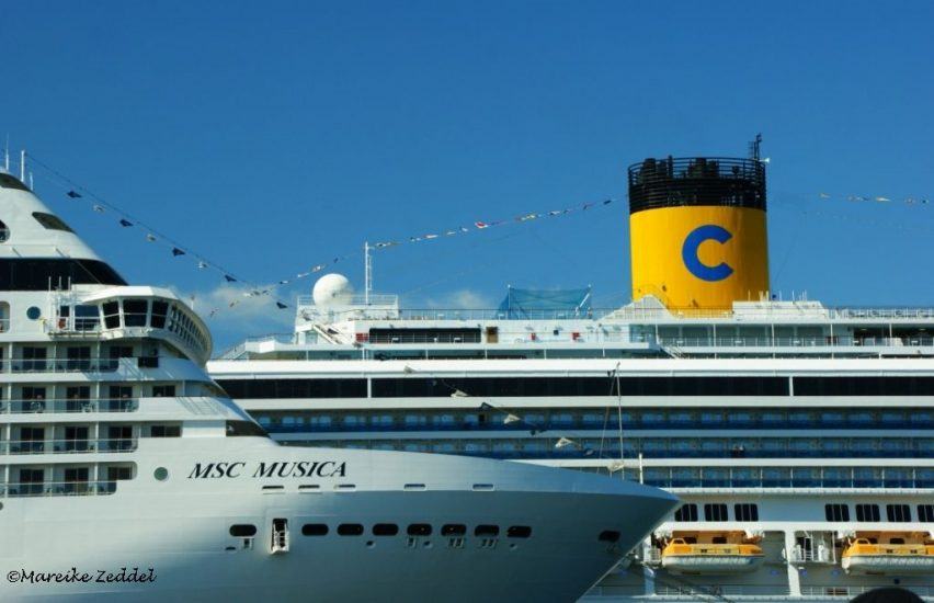 MSC Musica und Costa in Kiel