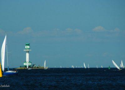 Segelboote Leuchtturm Falkenstein